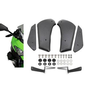 Carbon Fibre Front Spoiler Winglets Fairing For KAWASAKI NINJA ZX-10R 2011-2019