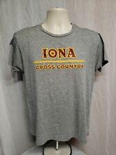 Iona College Cross Country Womens Medium Gray TShirt
