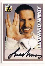2009 Leonard Nimoy STAR TREK Autograph- Limited Edition Costume Card (LNAU-Card)