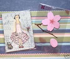 NEW Girl Puppy Pocket Notebook memo notebook & Sakura Pink Sticky Notes