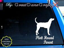 Plott Hound -Mom -Dad -Parent(s) Vinyl Decal Sticker -Color Choice -High Quality