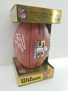 Fanatics Authentic Peyton Manning Signed Super Bowl 50 Broncos Game Football