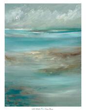 OCEAN BREEZE CAT TESLA TURQUOISE BLUE OCEAN PRINT POSTER 30X40 COASTAL ART