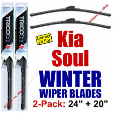 WINTER Wiper Blades 2-Pack Super-Premium fit 2010+ Kia Soul - 35240/35200