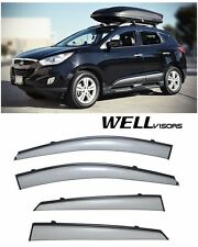For 10-15 Hyundai Tucson WellVisors Side Window Deflectors Visors W/ Black Trim