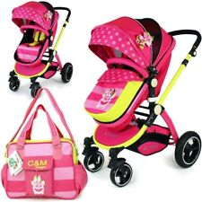 iSafe 2 in 1 - Mea LUX Pram & Luxury Stroller Complete With Luxury Changing Bag