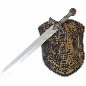 Ritter-Set, Schwert & Schild, bronzefarben