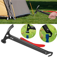 Outdoor Camping Hammer Tent Pegs Stake Nail Puller Remover Extractor Lightweight