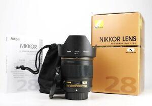 Nikon AF-S Nikkor 28mm F1.8 G Prime Lens - Boxed - Front &  Rear Caps & Hood EXC