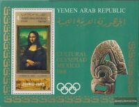 Nordjemen (Arabische Rep.) Block93A (kompl.Ausg.) gezähnt postfrisch 1969 Gemäld