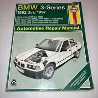 Haynes Repair Manual 18021 for BMW 3 Series 92 - 97 318i, 325i, 328i Convertible