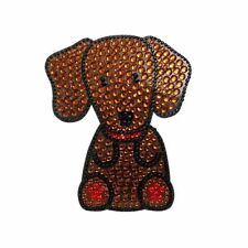 Dachshund Dog Rhinestone Glitter Jewel Phone Ipod Iphone Sticker Decal