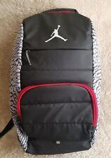 Nike Air Jumpman Jordan Laptop Backpack Wolf Grey Red and Black