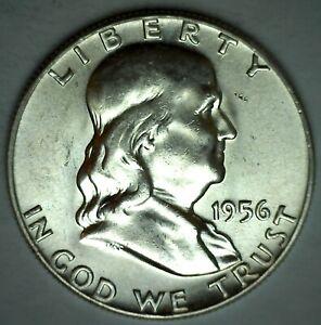 1955 Franklin BU Silver Half Dollar 50c US Coin Uncirculated Philadelphia Minted