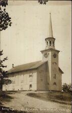Yarmouthport Cape Cod MA Church c1910 Used Real Photo Postcard