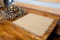 Deluxe Burlap Natural Tan Table Mat - Set of 4