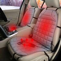 2pcs gris 12v siège voiture chauffé coussin chaud chauffants couverture G