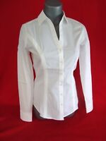 Express White Original ESSENTIAL Cotton-Blend Button-Up Long Sleeve Shirt NWT