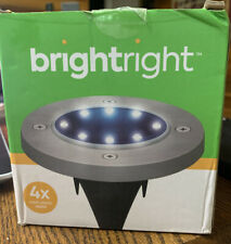 New listing Brightright Solar Disc Led Outdoor Ground Lights (4 Pack)