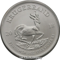 2018 South Africa Krugerrand 999 Silver 1 oz Bullion Coin