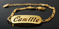 CAMILLE - Bracelet With Name - 18ct Yellow Gold Plated - Gifts For Her - Fashion
