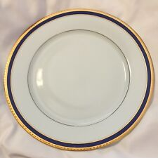 """Tiffany Limoges Blue Band Dinner Plate Gold France 4-Available 10-3/4"""""""