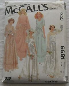Vintage Dress & Gown Sewing Pattern*McCalls 6681*Size 16*UNCUT/FF* Cottagecore