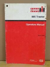 Original Case International 885 Tractor Operators Lubrication Manual 9-11280