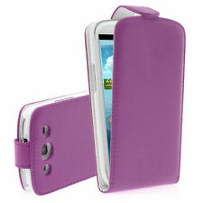 Imán Tapa Funda Carcasa Móvil Protectora Violeta para Samsung Galaxy S3 i9300