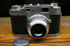 "Taron 35 Film Rangefinder 35mm Camera w/ Tomioka ""Lausar"" Nks-Mx Lens"