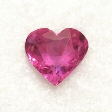 Natural 3.00 Carat Unheated Pink Sapphire Heart Certified Genuine Loose Gemstone