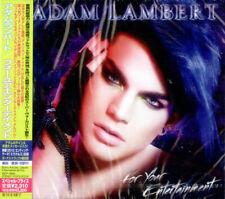 Adam Lambert For Your Entertainment - Sealed + Obi CD album (CDLP) JPN promo