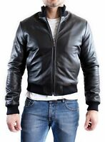 ★Giacca Giubbotto Uomo in di PELLE 100% Men Leather Jacket Veste Homme Cuir e8af