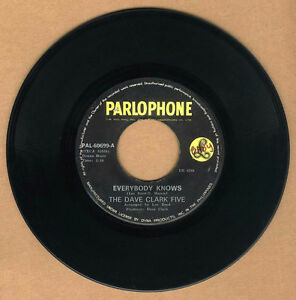 """PHILIPPINES:THE DAVE CLARK FIVE - Everybody Knows,7"""" 45 RPM,Record,Vinyl,"""