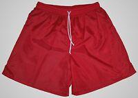 High Five Red Plain Nylon Soccer Shorts - Men's XL