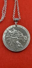 Dragon Morgan Dollar Hobo Medallion Stainless Chain Necklace Serpent Jewelry