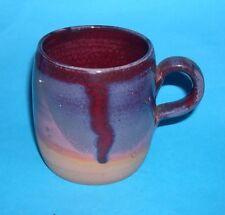 Denmark Studio Pottery - Attractive Multi-Glaze Quality Mug (Mark On The Base).