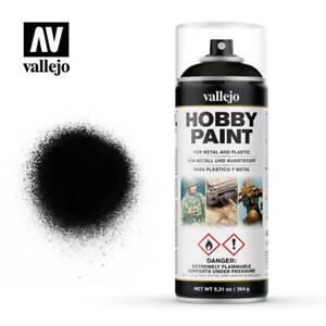 Vallejo Aerosol Black Primer Hobby Spray Paint 400ml...