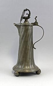 99833109 Zinn-Stitze Jarra Medio 18.Jh. con Armas y Fisch-Skulptur