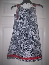 Hanna Andersson Holiday Pillowcase Dress Black White Red Euro Size 130 Worn once