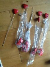 Job Lot Floristry Wooden Hearts on Spikes x 16 Home / Crafts / Display Unused