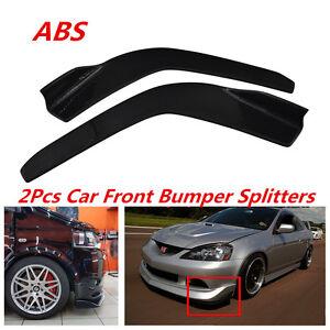 2x Carbon Fiber Look Car Front Bumper Lip Diffuser Splitter Anti-collision Strip