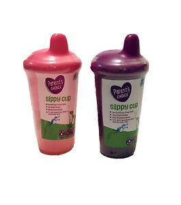 NEW Set Of 2 Parent's Choice Sippy Cup 9fl Oz-Pink/Purple