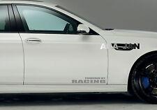 POWERED BY RACING Vinyl Decal sticker emblem sport speed car door logo SILVER