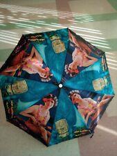 """48"""" Polyester Hula Girl - August Holland Umbrella hawaiiana tiki hawaii 3 Made"""