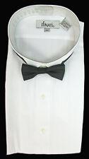 New Men's White Tuxedo Shirt with Black Bow Tie Wing Collar 2XL(18-18.5) 33