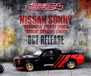 "1:64 Nissan Sunny ""Hakotora"" Pickup Truck -- ADVAN Livery -- INNO64"
