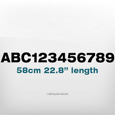580x50mm CUSTOM NUMBER TEXT Waterproof Ship,Boat,Scuba,Watercraft Decal Sticker