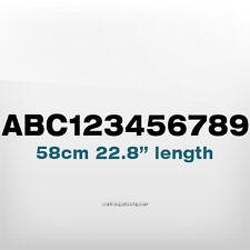 580x50mm Custom número texto Impermeable Barco, Lancha, buceo, Motos De Agua Decal Sticker
