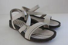 Teva Womens Leather Strappy Crossover Sandal Shoe Flip Flop Size 8 M Sand NIB